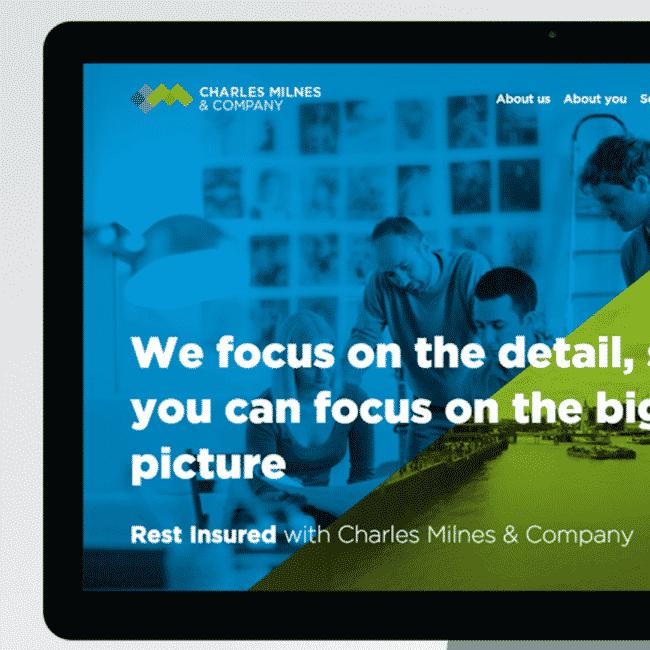 Charles Milnes & Company website design