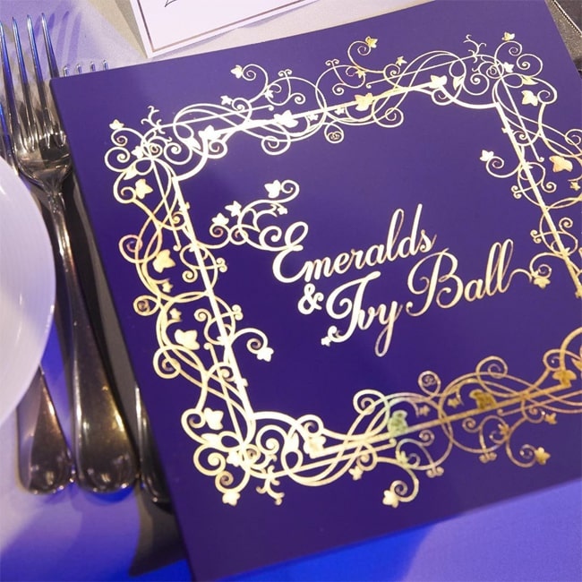 Cancer Research UK Emeralds & Ivy Ball brochure