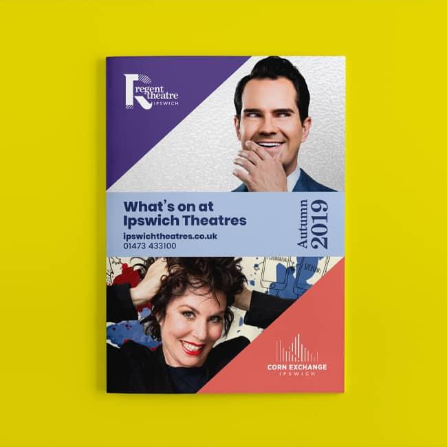 Ipswich Theatres rebrand programme design