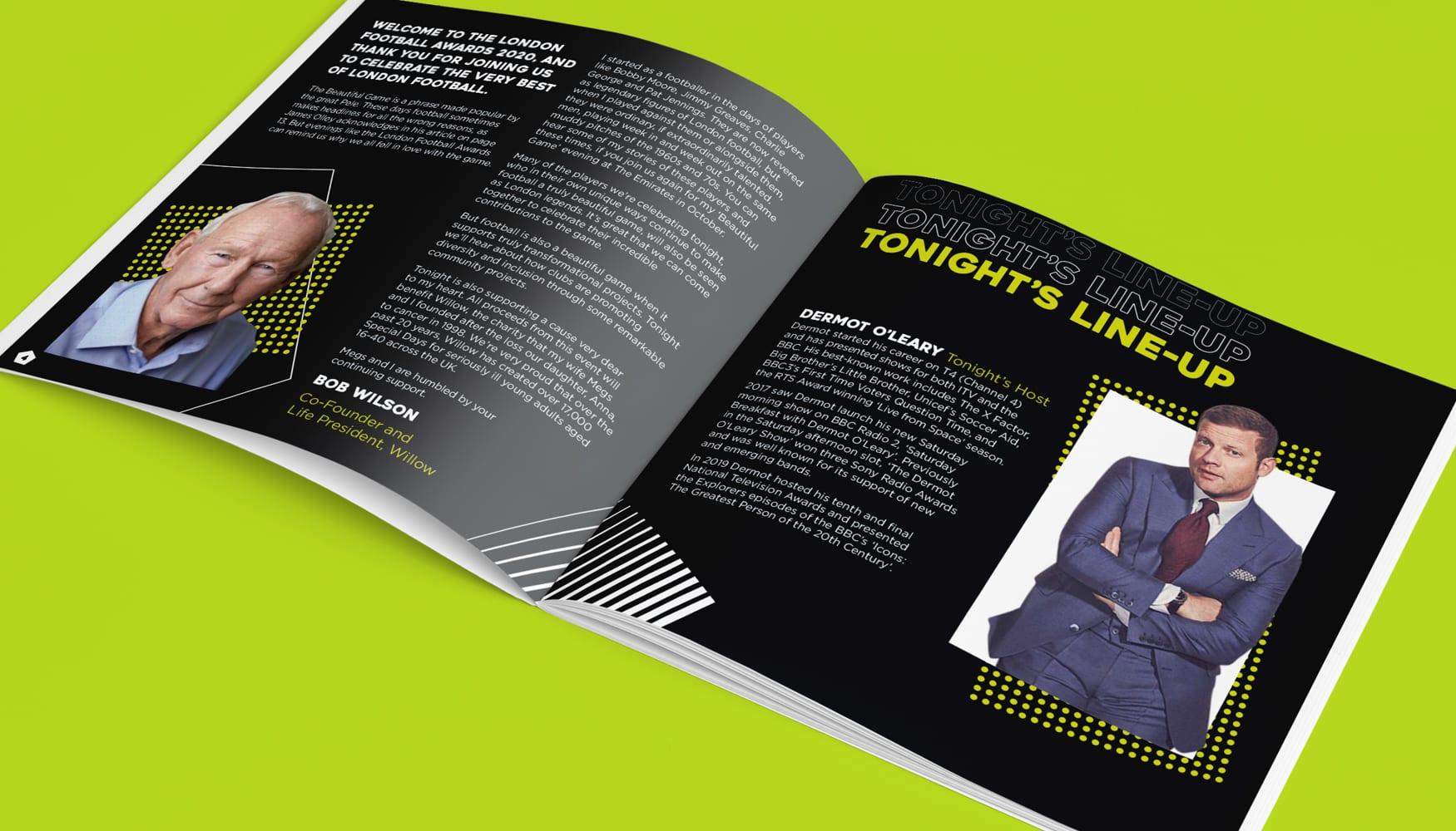 London Football Awards 2020 event brochure