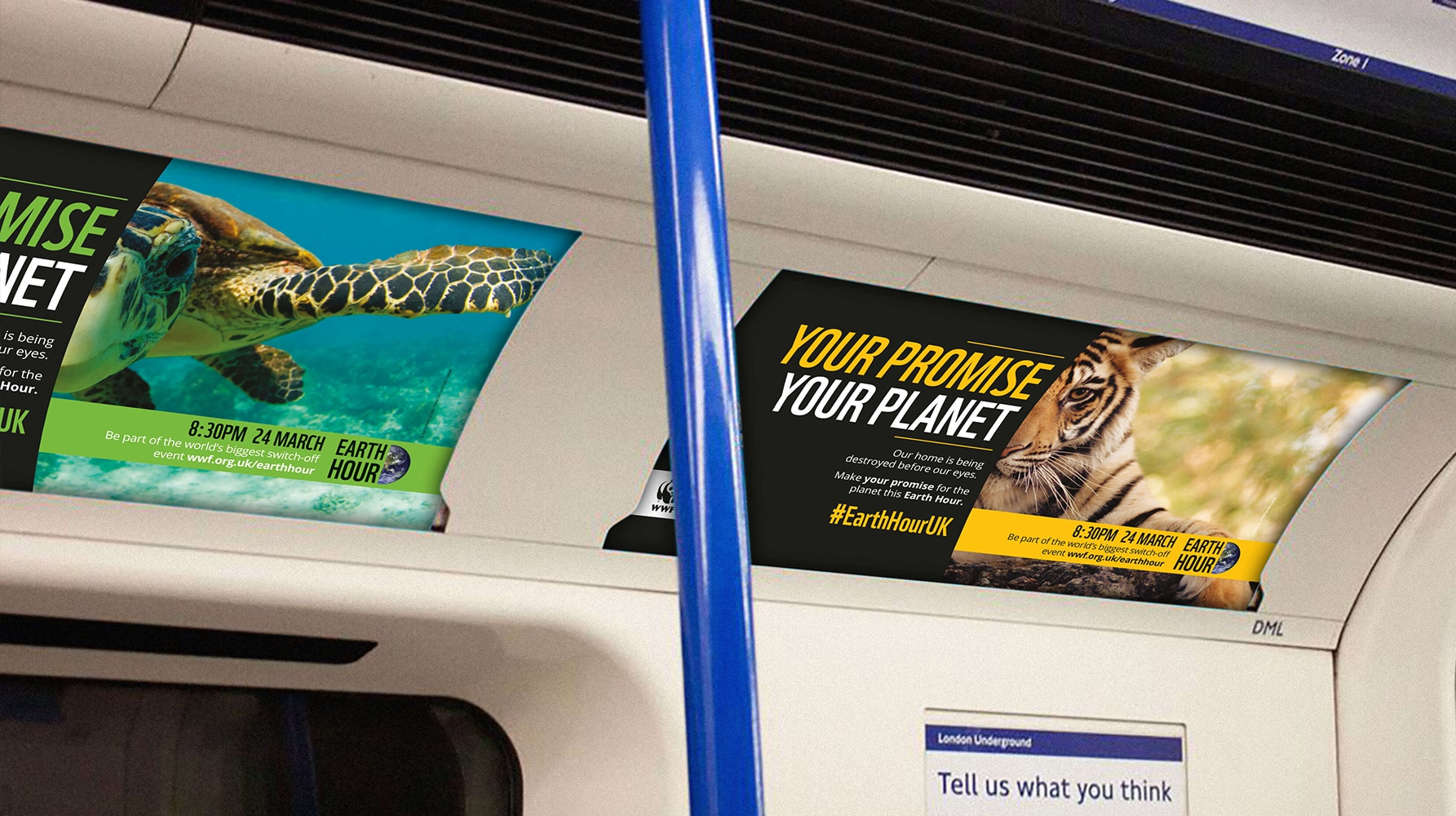 WWF Earth Hour campaign OOH poster