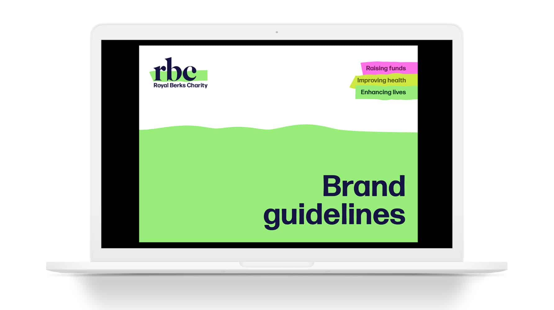 Royal Berks Charity brand guidelines cover